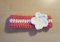 Bandeau bébé avec fleur (XS)